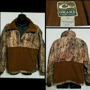 Drake Waterfowl MST Duck Blind Pullover Jacket M